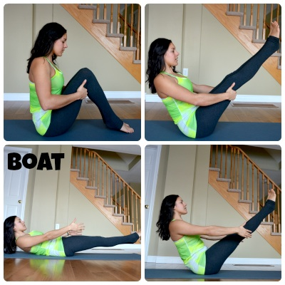 Rock the Boat yoga pose