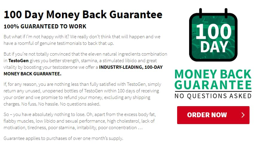 Testogen Money Back